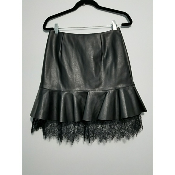 7860514da who what wear Skirts   Faux Leather Skirt   Poshmark